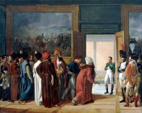 Francois Mulard's painting of the Persian envoy meeting Napoleon