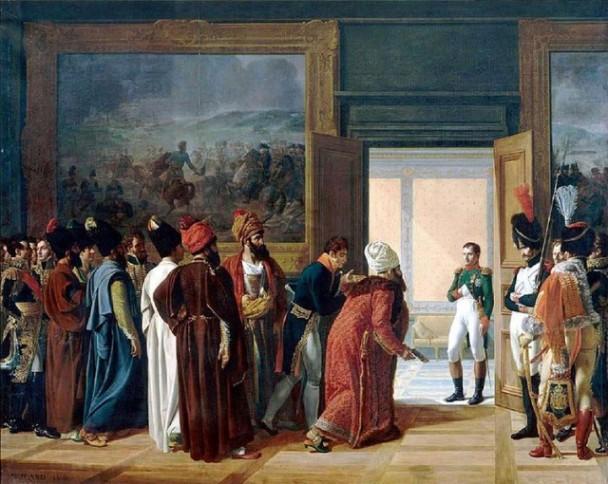 Francois Mulard's painting of the Persian envoy meeting Napoleon